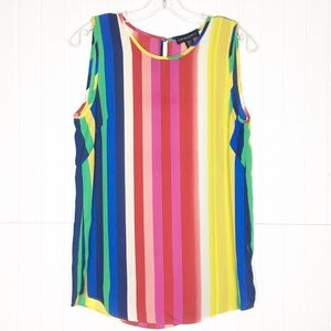 New Cynthia Rowley | Colorful Striped Tank Top
